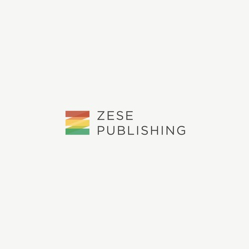 Simple geometric logo design for a publishing company