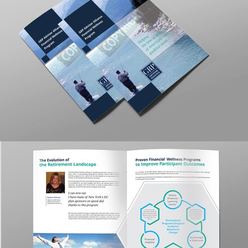 modern design of company brochure