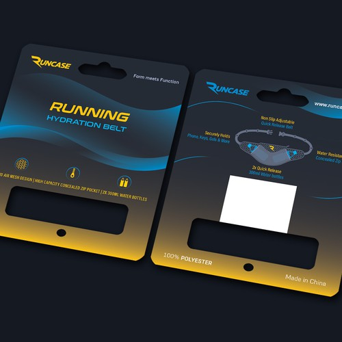 Packaging for running gear product