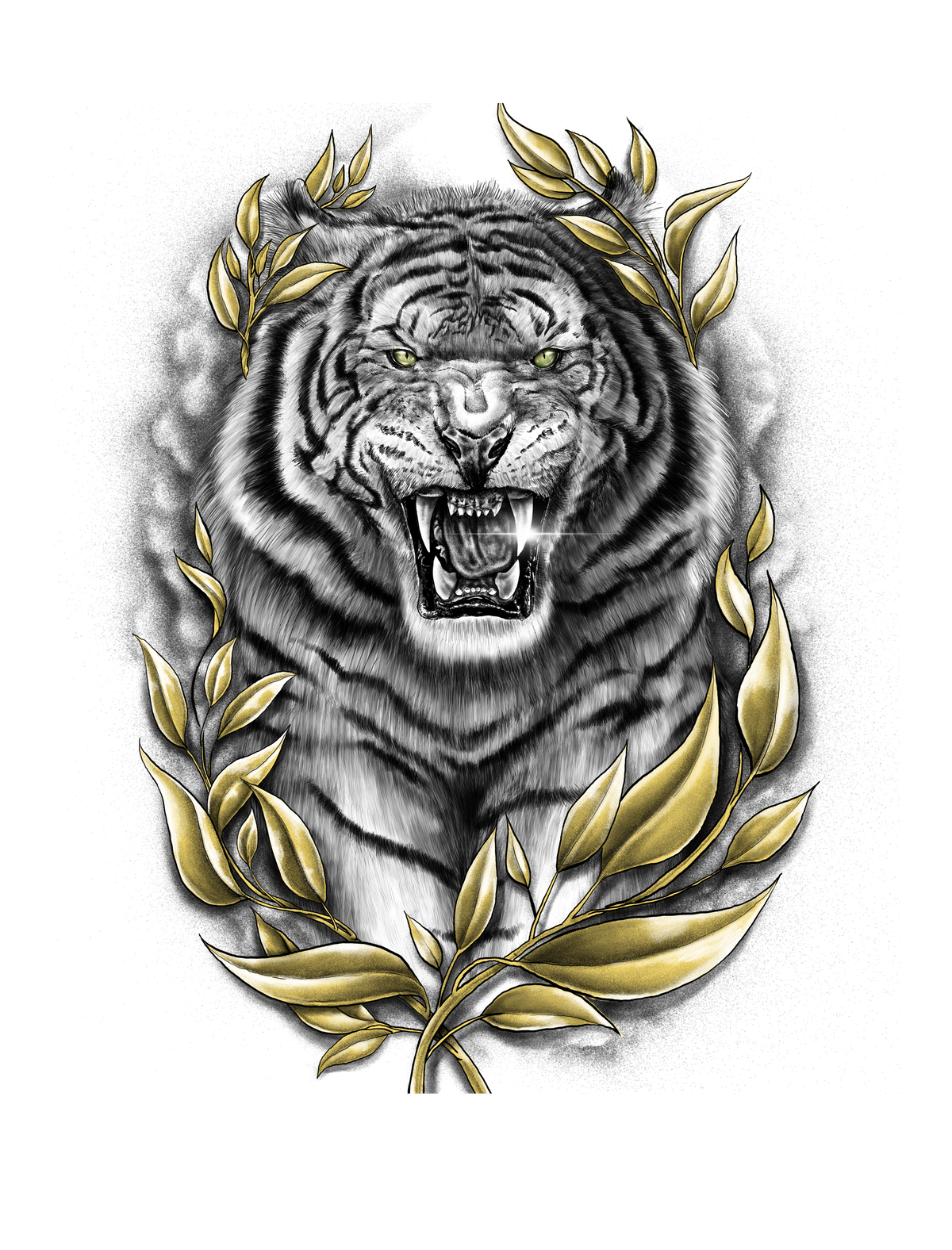 Design for a tattoo on the left forearm