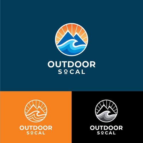 abstract logo for outdoors website