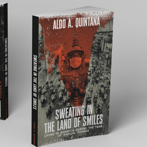 eye-catching, grunge-style book cover