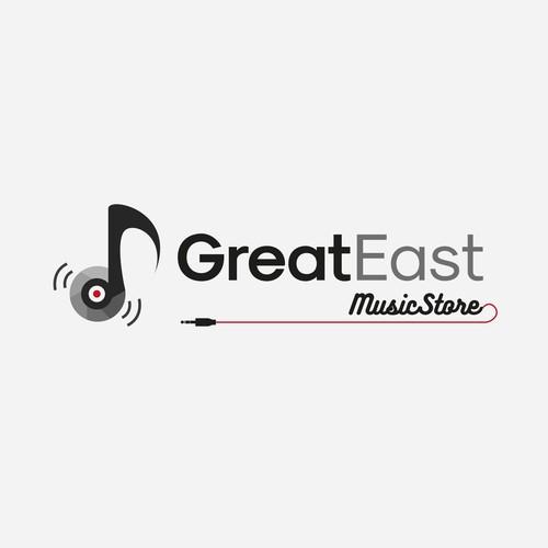 Logo for music store