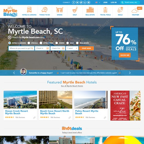 MyrtleBeach.com: Re-Design The Beach's Best Tourism Portal Site!