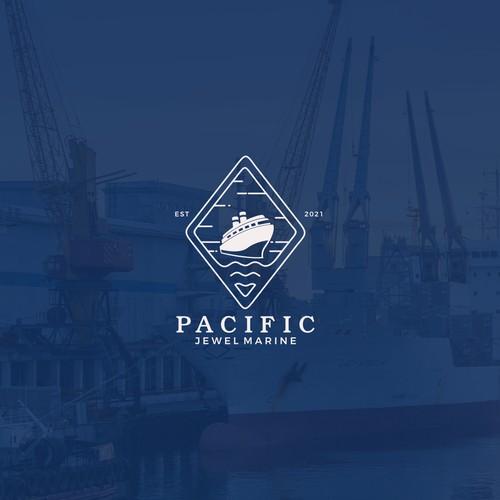 Logo for shipyard company