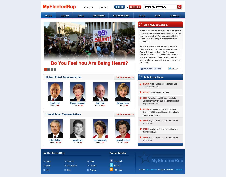 website design for MyElectedRep