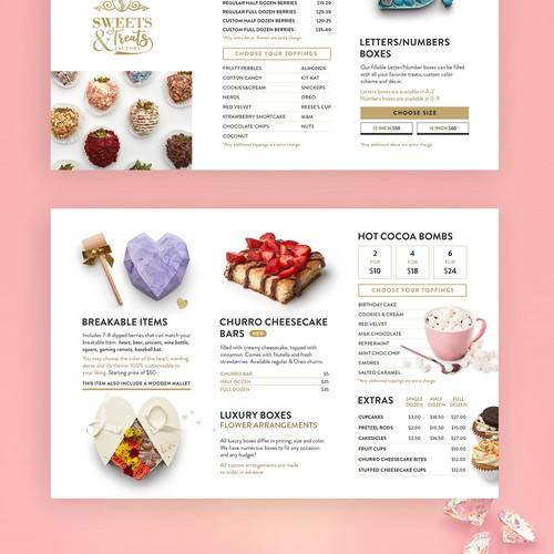 Sweets treats factory Menu