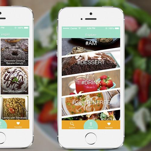 User interface for vegan app