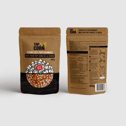 A food packaging that conveys Swissness and naturalness