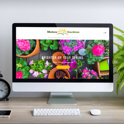 Vibrant e-commerce website built for Flower & Garden Shop