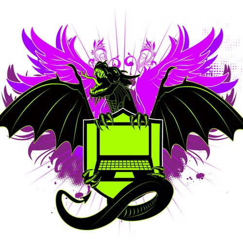 Dragon themed crest / emblem for Laptops