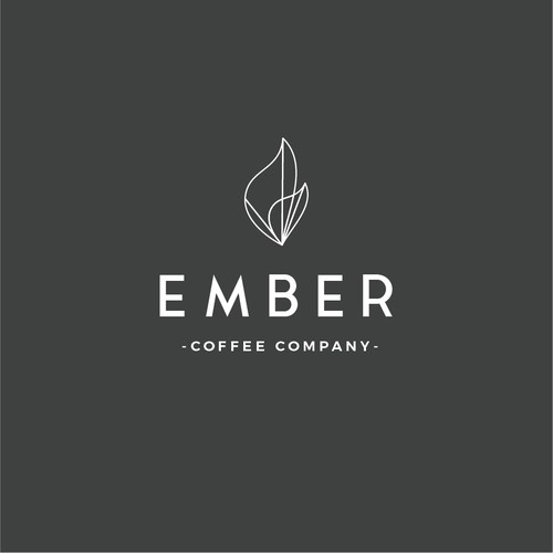 Minimalist logo identity for coffee company