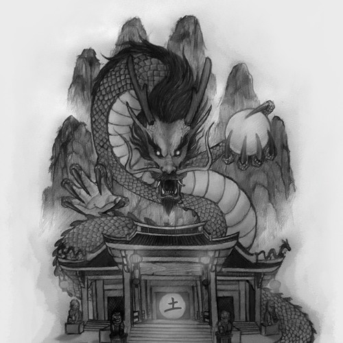 Chinese earth Dragon - Chinese new year tattoo
