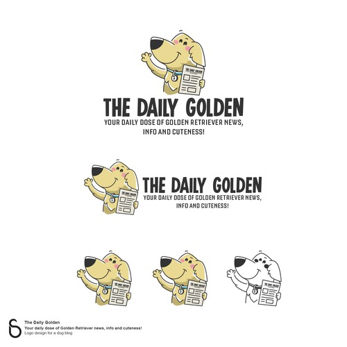Logo Design for The Daily Golden