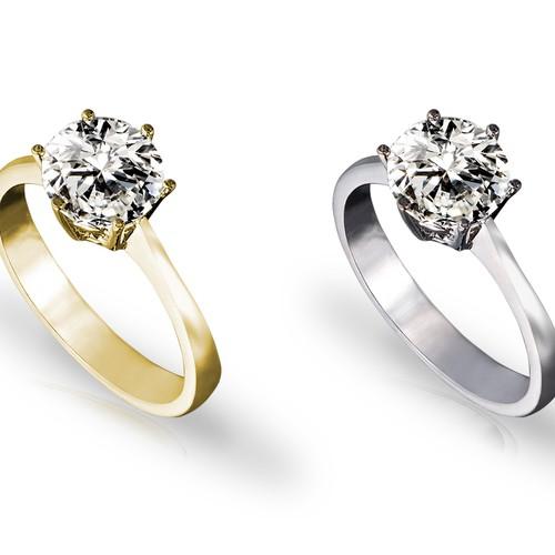 Diamond ring and Jewellery photo retouching