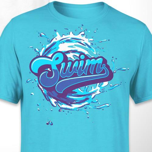 Swim T-shirt design