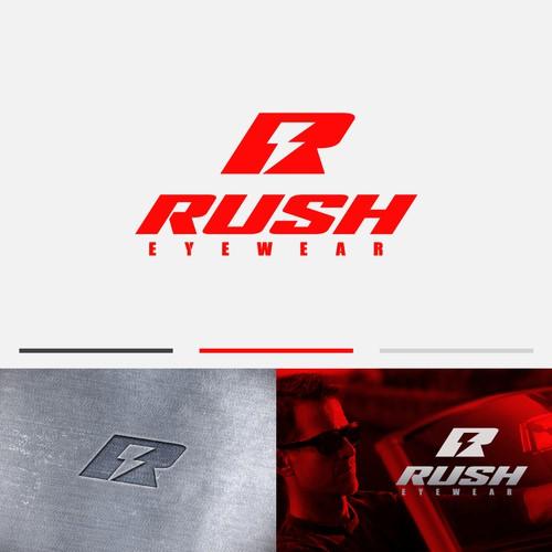 Rush Eyewear logo design