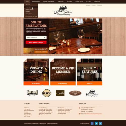 Create Boulder Creek's new restaurant website!