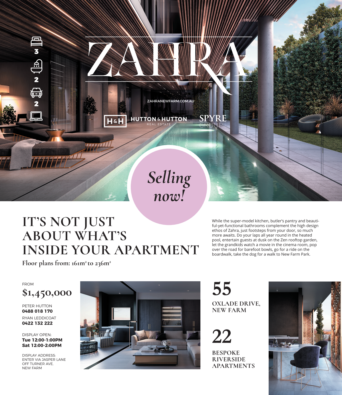 Zahra - Village News Magazine Print Ad - Full Page