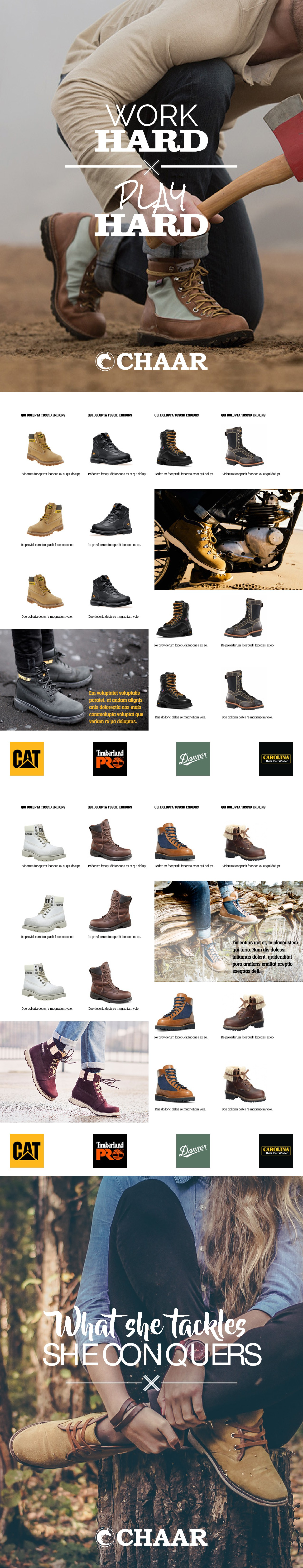 Design a footwear catalog cover