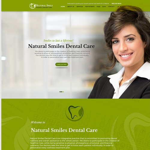 Holistic dental spa needs a new website!