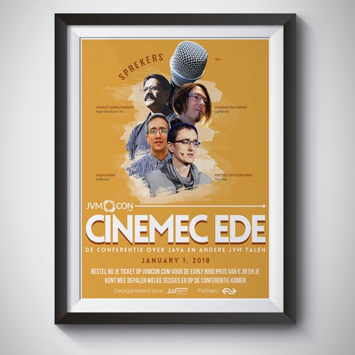 Awesome movie poster style conference advertisement