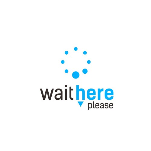 Wait here Please logo