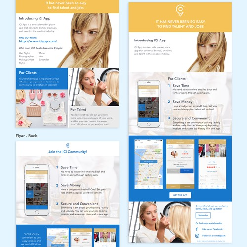 Flyer and Email Design