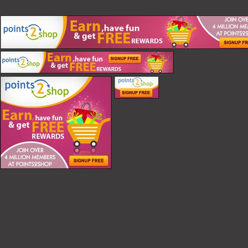 Create the next banner ad for Points2shop LLC