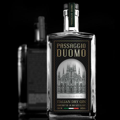 CREATE THE LABEL FOR PASSAGGIO DUOMO ITALIAN DRY GIN