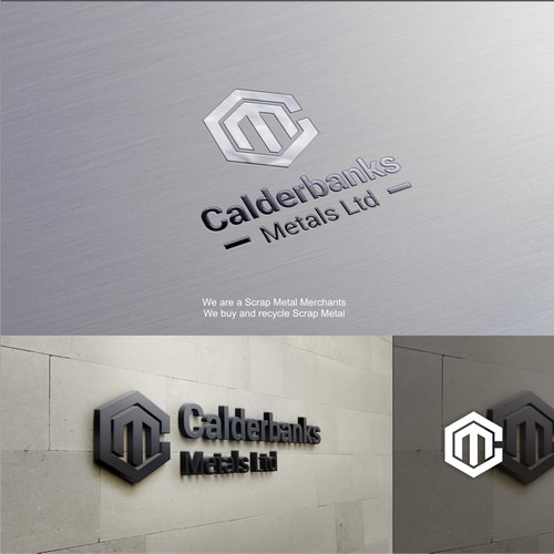 Bold, strong and modern logo for calderbanks Metals. Ltd