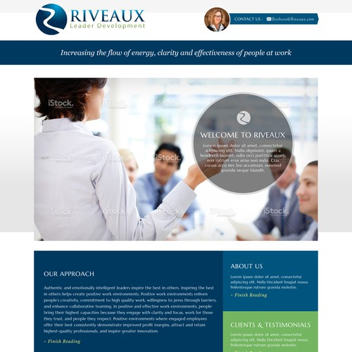 Create a website for Riveaux, a firm that makes work more meaningful