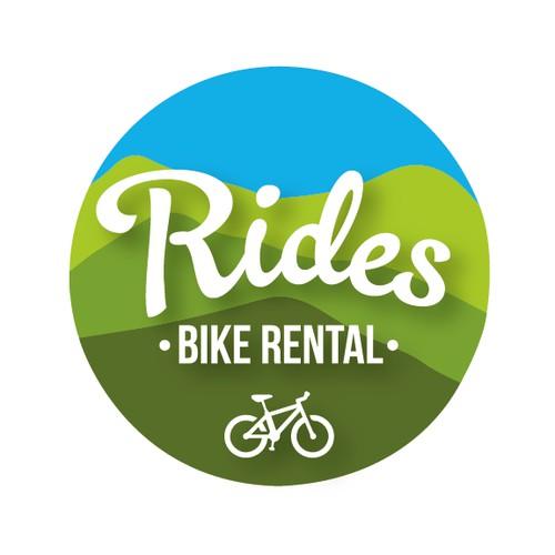 Logo for a bike rental company