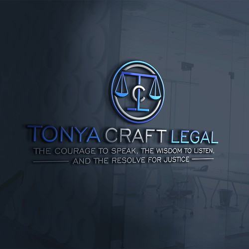 Clever logo concept for Tonya Craft Legal
