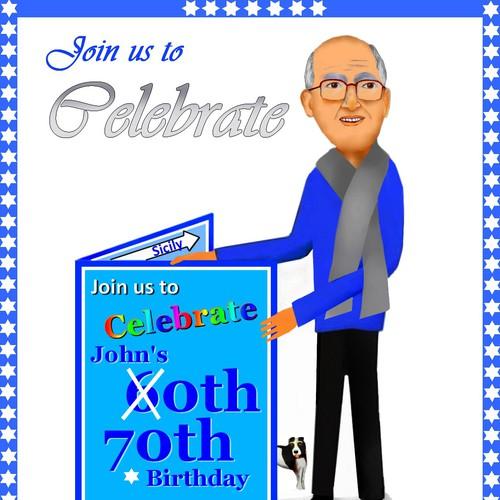 John's 80th Birthday invitation