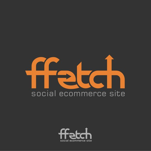 Fun but sophisticated logo for social ecommerce site