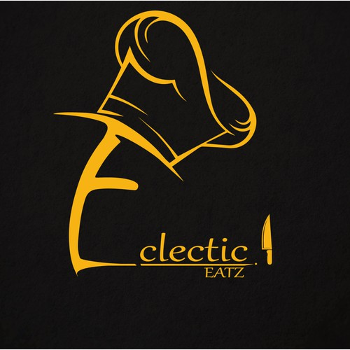create a logo for a hip up and coming catering business, Eclectic eats!
