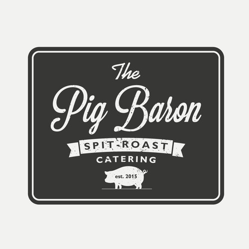 Concept a pig-themed logo for a pig on the spit catering company