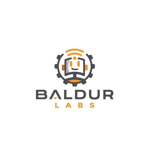 Robotics blog logo design