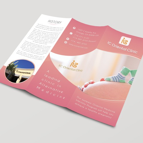 IC Oriental Clinic brochure design