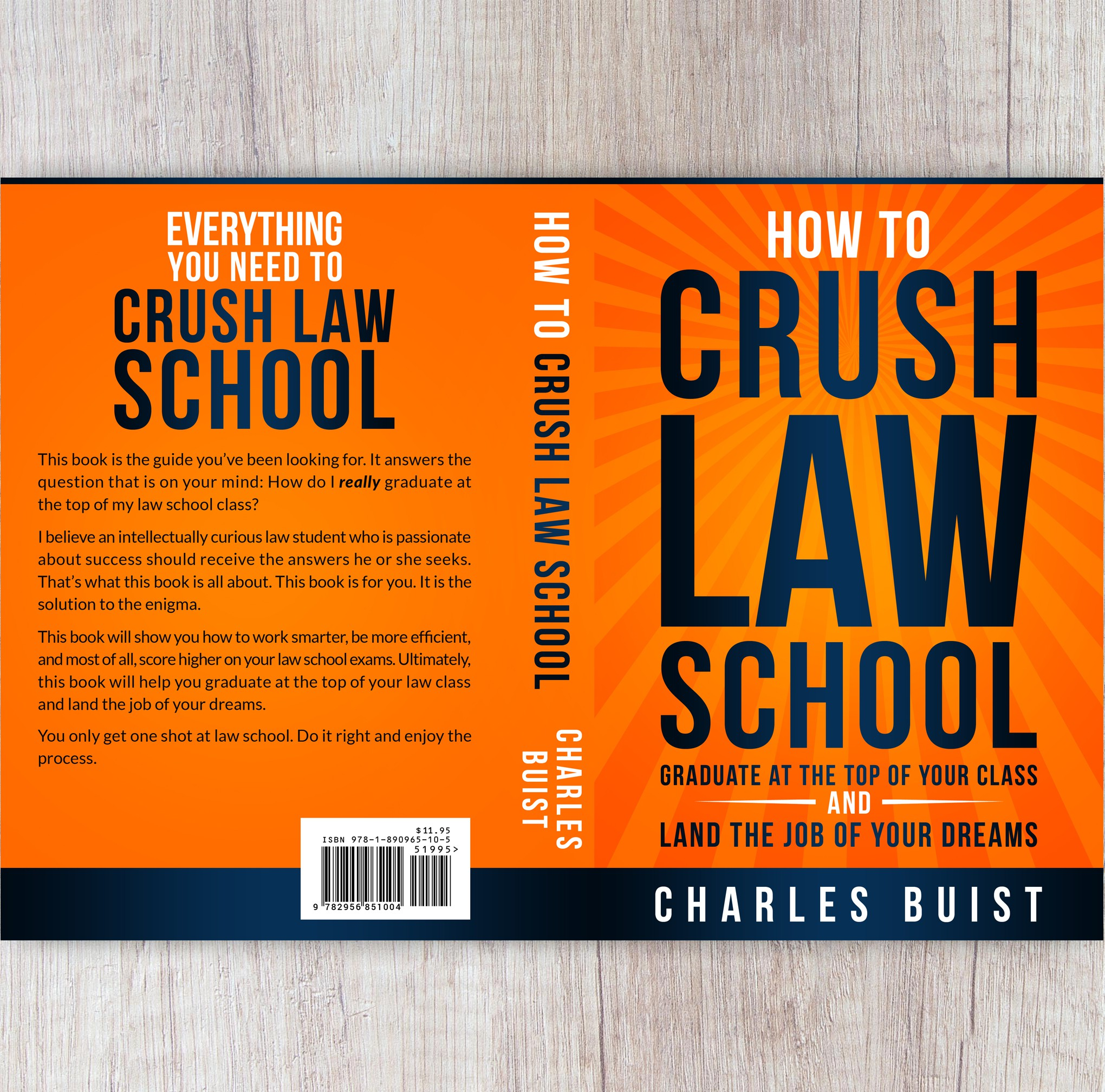 An author needs a book cover for a book written to help law students crush law school.