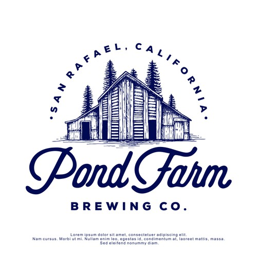 Logo Design for Pond Farm Brewing Co.