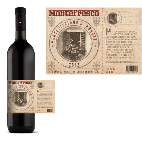 Montefresco - wine label
