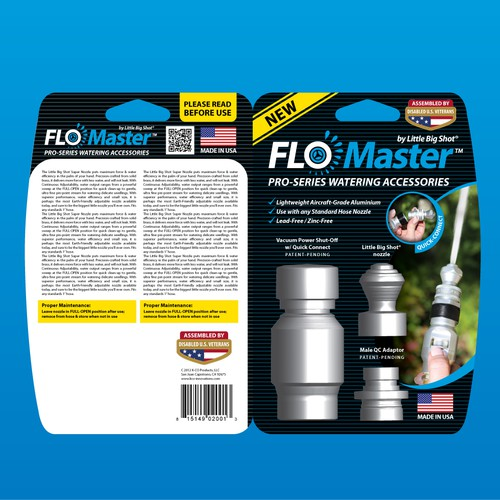 Packaging design for hot new FLO-MASTER watering accessory!