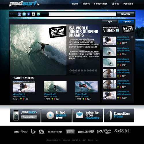 New Podsurf.tv website