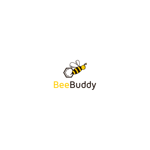 "Save the bees! - Logo for a bee protection app ""BeeBuddy""."