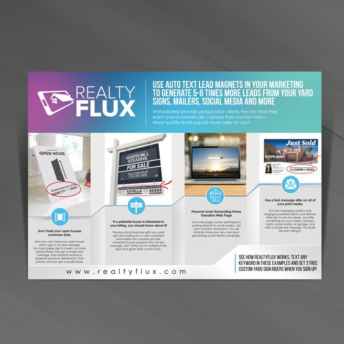 One Page Flyer for Realty Flux