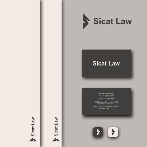 modern law and firm logo design concept