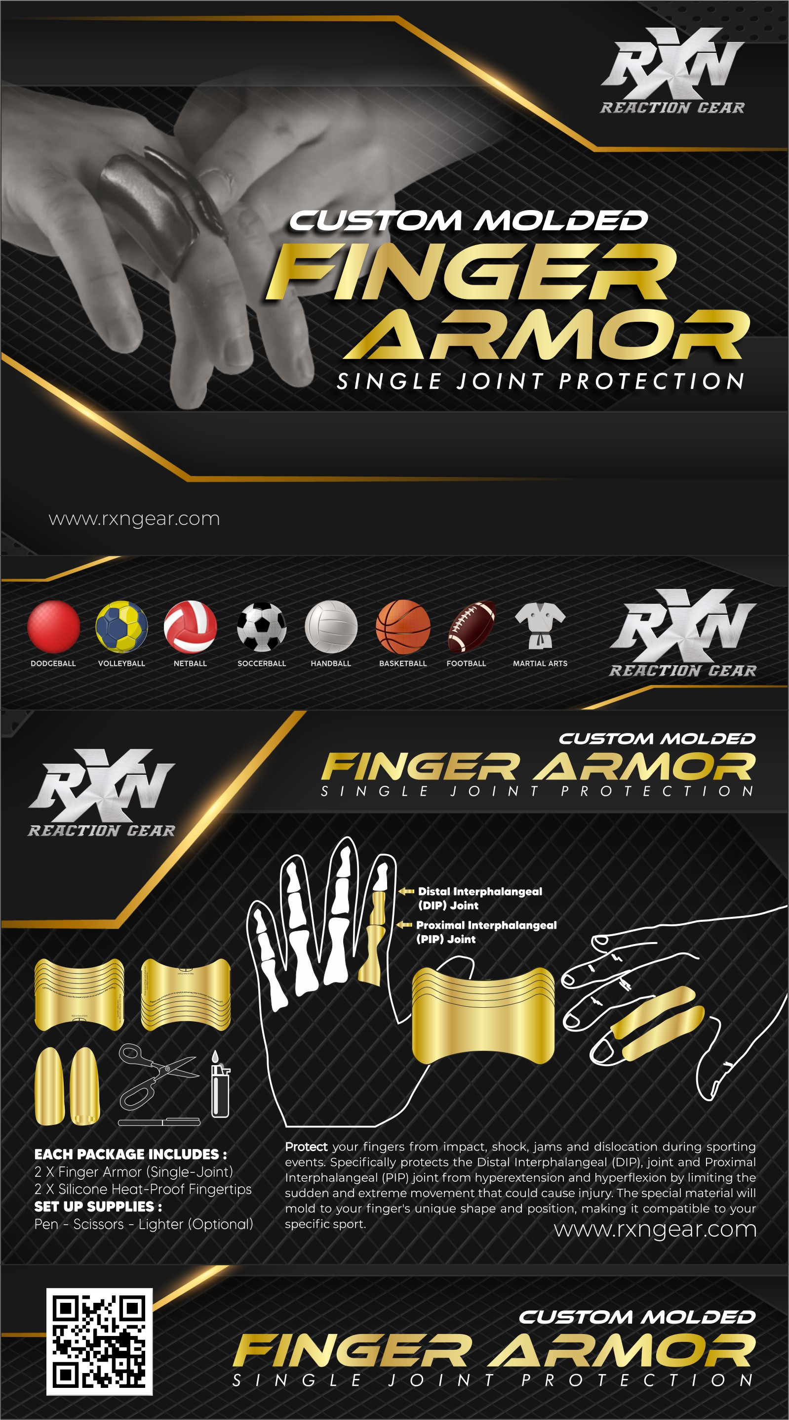 We need a package design for our new sports protective wear