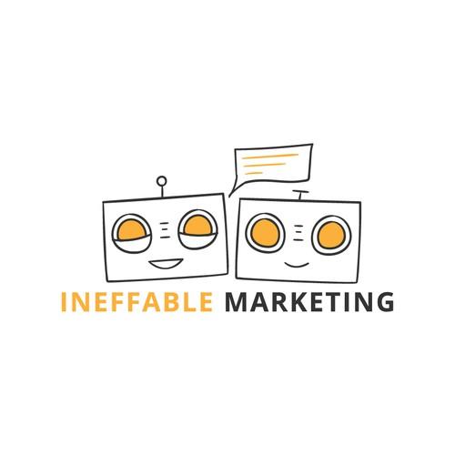 Chatbot Logo for a marketing company